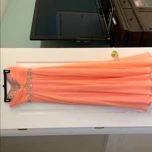 Coral Cache Prom Dress
